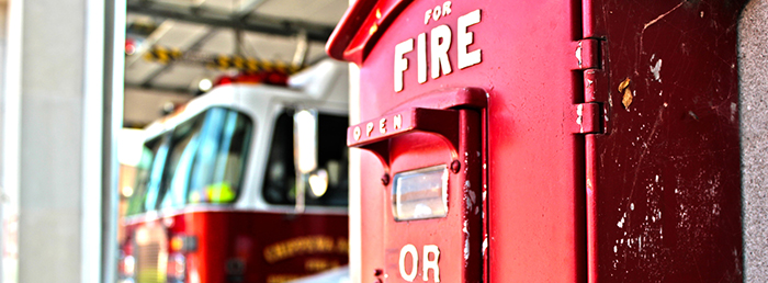 Fire Box with Truck Background