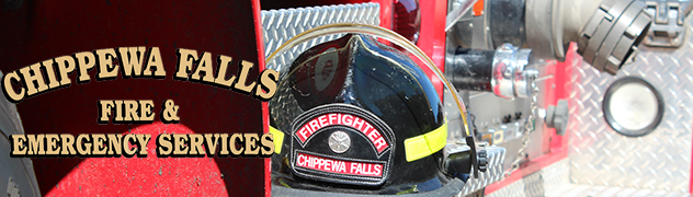 Helmet on Fire Truck Banner
