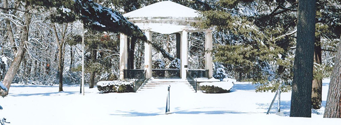 Band Shell In Winter Banner