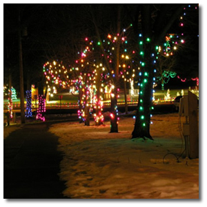 Christmas Village Lights 1