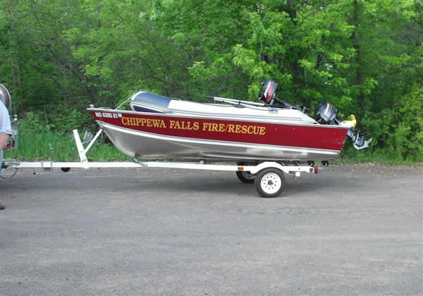 16' Lund Boat and 12' Zodiac Raft