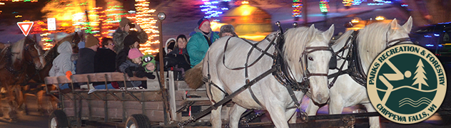 Christmas Village Horse Drawn Carriage Banner
